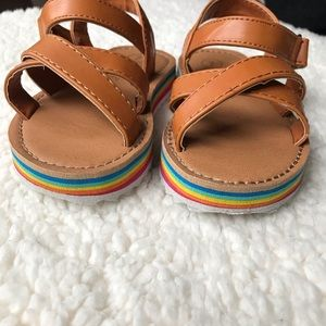 ac44461214f Cat   Jack Shoes - Cat   Jack Annona Rainbow Cognac Platform Sandals